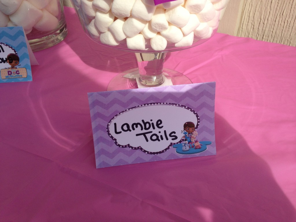 Doc McStuffins Party: Lambie Tails